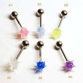 Piercing do jazyka Silicon Clear Tassel