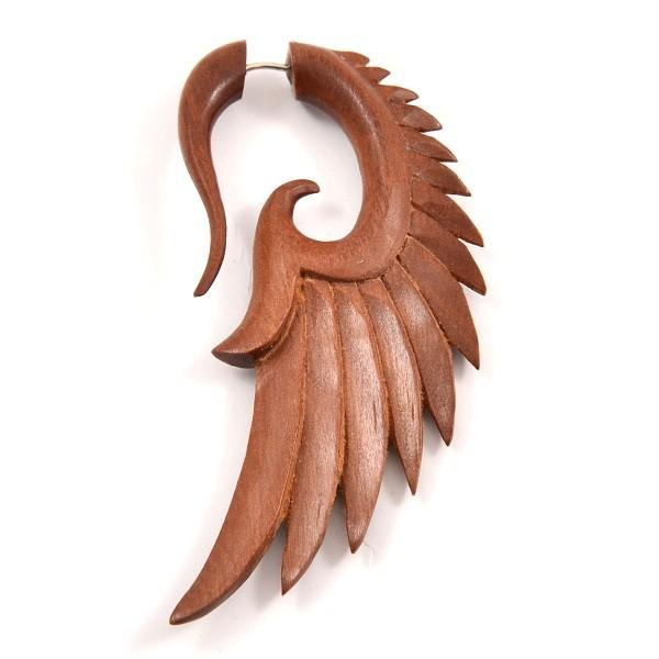 Wood Wings Fake piercingová náušnice