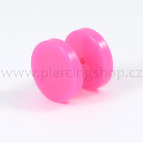 Fake falešný plug Acryl Disc Pink