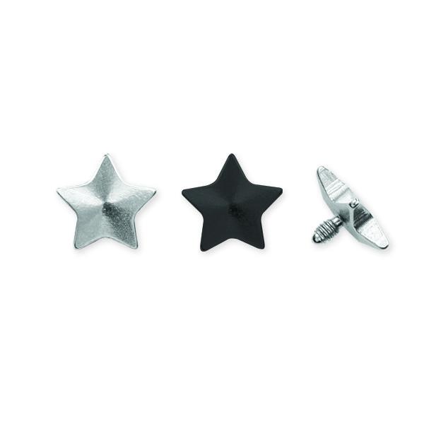 Microdermal piercing Hvězda ocel 1.2