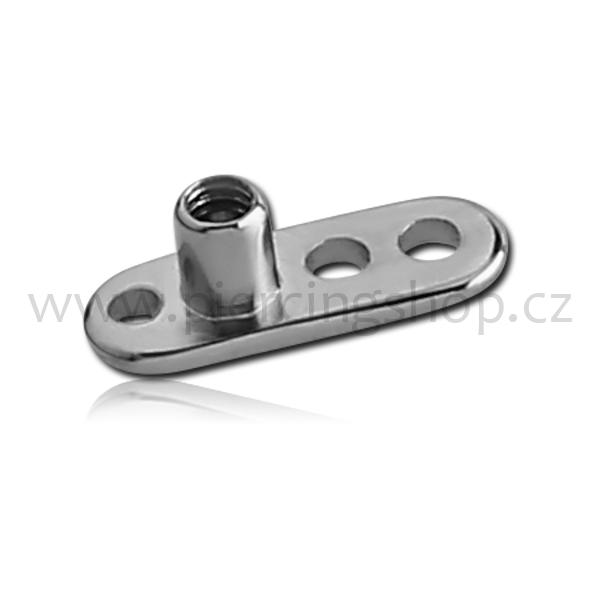 Microdermal základna – base tři kulaté dírky Titanium 23