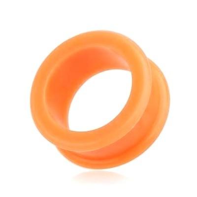 Silikonový tunel do ucha oranžový