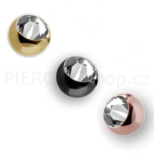 Piercing náhradní kulička 3.5 mm s kamínkem