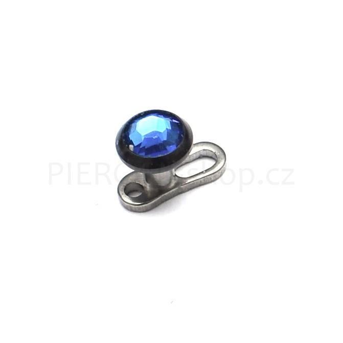 Microdermal piercing TOP šperk s kamínkem