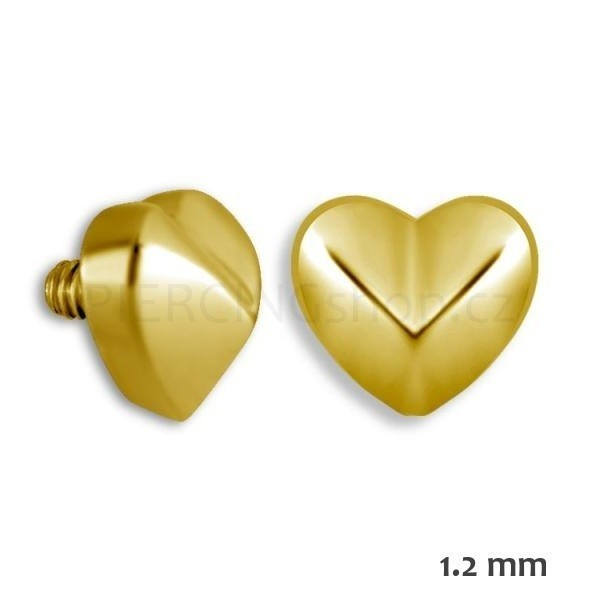 Microdermal piercing srdce Gold Collection