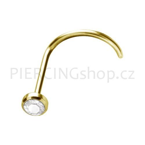 Piercing do nosu 18K pravé zlato